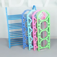 Rak Sepatu Susun 4 Tingkat Plastik Aluminium Shoes Storage Rack