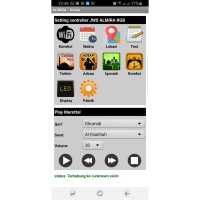 FULL Color (RGB) ALMIRA Controller Jadwal Sholat Android WIFI