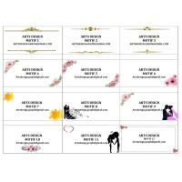 jasa cetak / print Label nama Undangan tom & jerry 103 motif