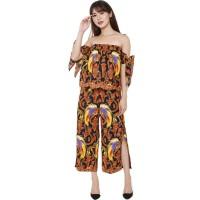Set Sabrina Ribbon & Slit Pants Black Papua