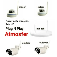 NVR KIT WIRELESS 8CH + 4 CCTV WIRELESS (HARDISK 500GB)