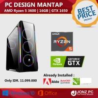 PC Design   Ryzen 5 3600   16GB   GTX 1650   Cocok Buat Editing Render