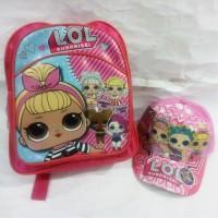 paket TAS anak PAUD L.O.L. Surprise! & TOPI LOL Surprise Surprises