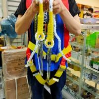 Safety belt Body Harness Double Hook Besar Bodi harnes cantolan 2 dua