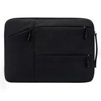 Tas Laptop Softcase Jinjing Pocket Nylon Waterproof 14 inch - Black