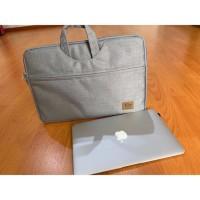 Tas Laptop SoftCase Waterproof Nylon Jinjing 14 inch - Abu - Abu