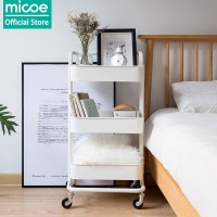 MICOE Rak Kamar Tidur Dapur Troli Kamar Mandi Removable Putih 3tingkat