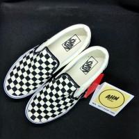 Vans Slip On Checkerboard Black White BW - Original - Resmi Navya