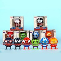 Pajangan Mobil Emoji Avengers Superhero Boneka Per Goyang Emoticon