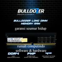 RAM PC DDR4 4GB PC4 19200 2400MHZ CL17 BULLDOZER.BERGARANSI