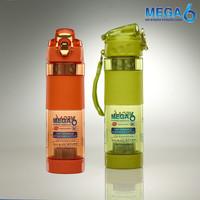 MEGA6 - Tempat Minum Botol Air Terapi Kesehatan 500ml - Anti Diabetes - Orange