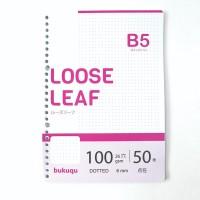 HVS Loose Leaf B5 100 gsm - DOTTED by Bukuqu