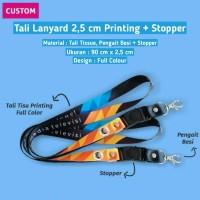 Tali ID Card Printing 2,5 cm / Tali Lanyard / Tali Printing Tissue