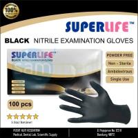 Sarung Tangan Tatoo Kecantikan Hitam Black Nitrile 1 box