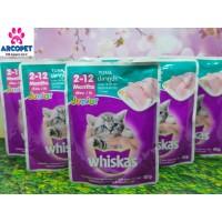 Makanan Kucing - Basah - Whiskas Pouch Junior Tuna - 85gr