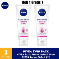 Nivea Extra White Instant Glow Body Serum [180 mL] Beli 1 Gratis 1