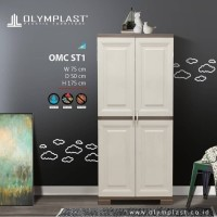Olymplast Lemari Pakaian Plastik OMC ST1 Cabinet Gantung 2 Pintu