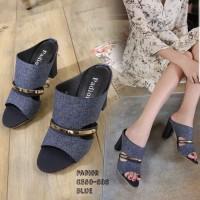 ASLI Sandal High Heels Hak Tahu DIANA DD01 7cm Big Heel Tahu Wanita