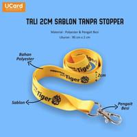 Tali id card nylon 2 cm / Tali Lanyard/ sablon tanpa stopper