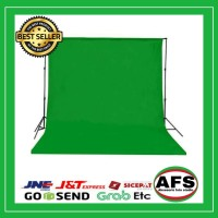 Background warna hijau(green screen) 2,7x 3 m foto studio