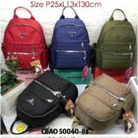CB50040 TAS Ransel wanita import Backpack Chibao Bordir