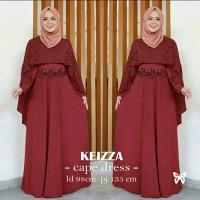 Gamis / Maxi / Dress Baju Wanita Muslim Keizza Jersey + Brukat HQ