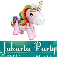 Balon Foil Unicorn 3D Full Body Pink / Standing Balloon Kuda Pony
