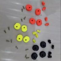Tear off post dual fungsi / phuspin / dudukan pin