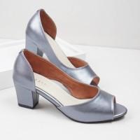 Guzzini MN 556 Biru - Sepatu Heels Buka Depan Casual
