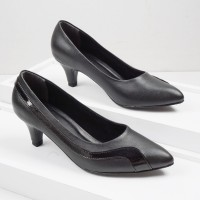 Guzzini MN 908 Hitam - Sepatu Heels Kerja 5cm