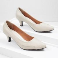 Guzzini MN 908 Cream - Sepatu Heels Kerja 5cm