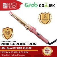 Koryu Nikko Hair Curler Pink Curly Rambut - Diameter 32mm