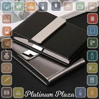 FOCUS Kotak Bungkus Rokok Elegan Leather Cigarette Case `28H3EL- Black