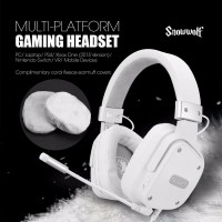 SADES SNOWWOLF Multiplatform Headset Gaming Murah ORIGINAL BERGARANSI