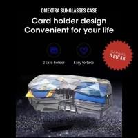 Tempat Kacamata Mobil - Omextra Sunglasses Case + Card Holder