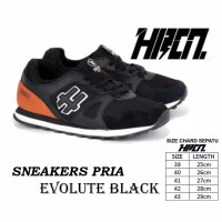 Sepatu sneakers running pria HRCN shoes Synthetic black red-black comb