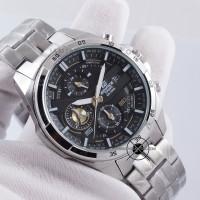 Jam Tangan Edifice EFR-556D-1AV CASIO PRIA EFR556 Silver Black ORI BM