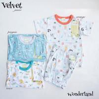 Velvet Wonderland Setelan Pendek Kancing Pendek Size L
