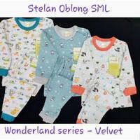 Velvet Wonderland Setelan Panjang Kancing Pundak Bayi