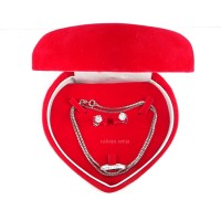 Set Kotak Perhiasan / Kotak Kalung, Anting dan Cincin Jewelry Box (TL)