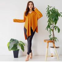 Baju Wanita Long Sleve Asymetrical Top