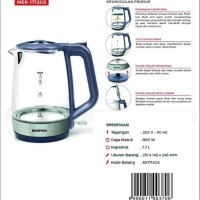 Maspion Teko Listrik MEK-1712GS 1,7 Liter / Electric Kettle