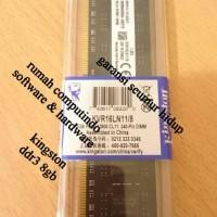 RAM PC DDR3 8GB PC3 12800 1600MHZ CL11 KINGSTON.BERGARANSI