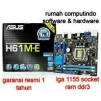 MOTHERBOARD INTEL ASUS H61ME LGA 1155 DDR3 BARU.BERGARANSI