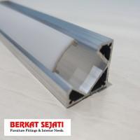 List Lis Rel Rumah Cover Casing Lampu LED Strip Alumunium SUDUT SIKU 3