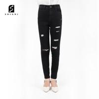 SOIGNI Celana Wanita Ripped Jeans High Waist Jumbo Premium Quality
