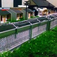 miniatur Kereta api pagar kawat