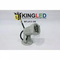 KINGLED Lampu Sorot LED ada kaki 3Watt Warm white ( kuning)