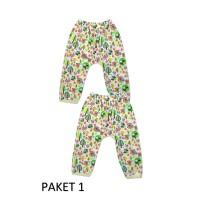 Celana panjang bayi, umur 3 bulan M, celana anak murah isi 2pcs - PAKET 1