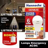 Lampu LED Emergency Hannochs Genius 6 Watt AC/DC 6w